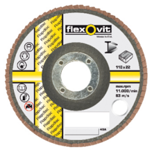 Afbeeldingen van Flexovit Vlaklamellenschijf FI FLD FDSP diameter 110 x asgat 22mm P120
