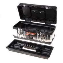Afbeeldingen van Fixman gereedschapskoffer leeg, met inlegbakje, materiaal metaal/kunststof 350x160x170mm (lxdxh)