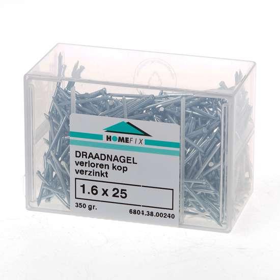 Afbeelding van Draadnagel verloren kop gegalvaniseerd 1.6 x 25mm 200 gram
