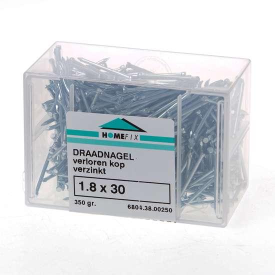 Afbeelding van Draadnagel verloren kop gegalvaniseerd 1.8 x 30mm 350 gram