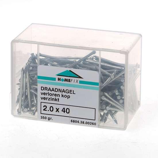 Afbeelding van Draadnagel verloren kop gegalvaniseerd 2.0 x 40mm 350 gram