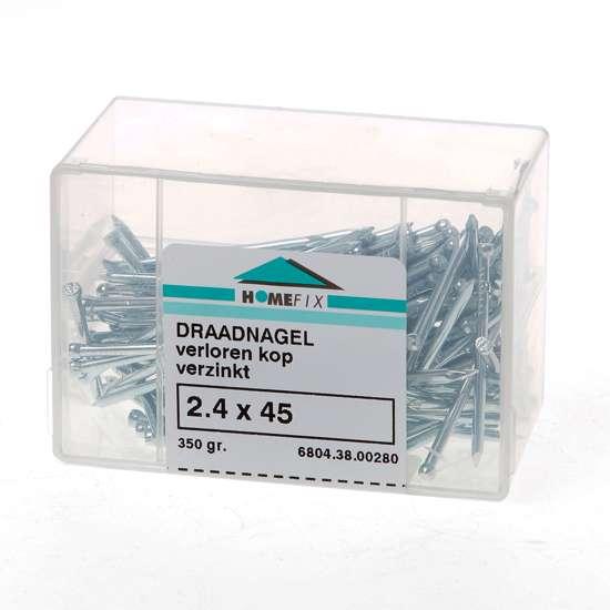 Afbeelding van Draadnagel verloren kop gegalvaniseerd 2.4 x 45mm 350 gram