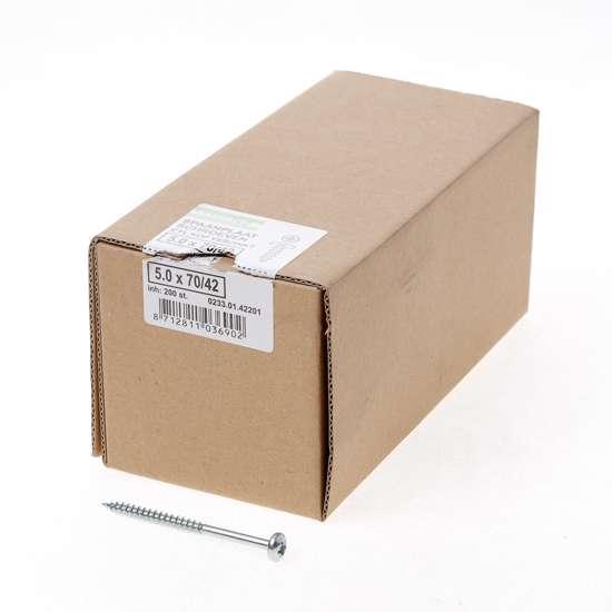 Afbeelding van QZ Spaanplaatschroef cilinderkop verzinkt pozidriv 5.0x70mm (per 200 stuks)