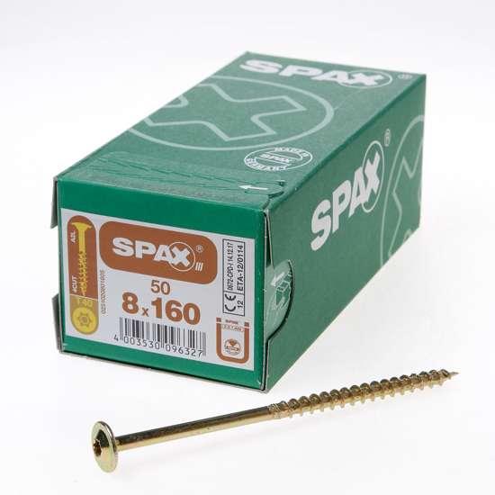 Afbeelding van Spax Spaanplaatschroef Tellerkop discuskop gebruineerd T40 8 x 160mm