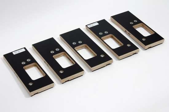 Afbeelding van Riens Scharnierfreesmal voor deuren en ramen zonder tochtstrip set 5-delig 89 x 89mm