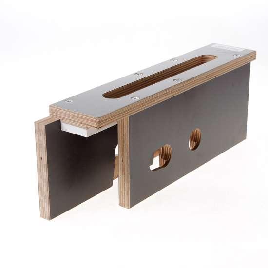 Afbeelding van Riens Freesmal 600 serie voorplaat/krukgat/pcgat deurdikte 40mm