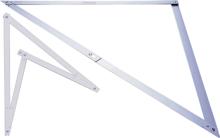 Afbeeldingen van Hoekmaat opvouwbare bouwhaak aluminium 1-45-013 maten?