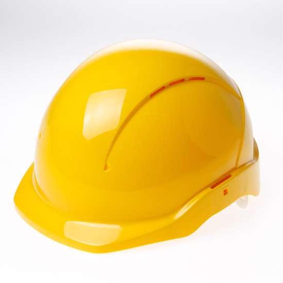 Afbeelding van Briton Veiligheidshelm cent korte klep roofer geel