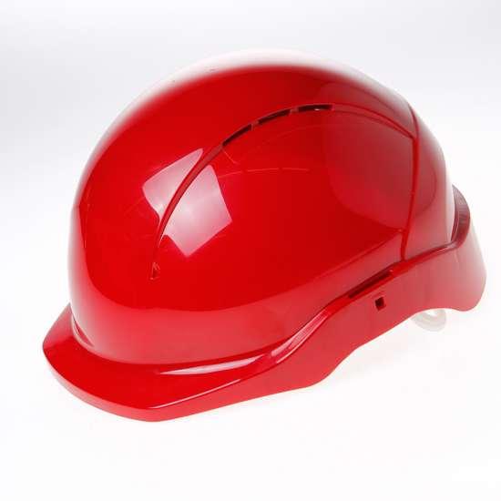 Afbeelding van Briton Veiligheidshelm cent korte klep roofer rood