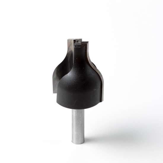 Afbeelding van Trasco Hardmetaal verticale bossingfrees diameter 32mm x radius 16 x lengte 40mm x schacht 8mm E15