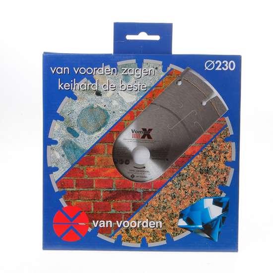 Afbeelding van Diamandzaagblad Vomax universeel diameter 230 x asgat 22.2mm