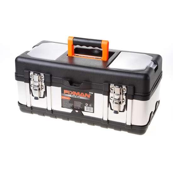 Afbeelding van Fixman gereedschapskoffer leeg, met inlegbakje, materiaal metaal/kunststof 400x190x180mm (lxdxh)