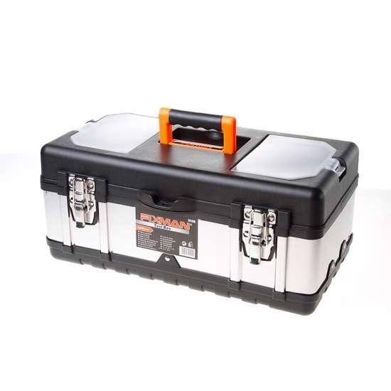 Afbeelding van Fixman gereedschapskoffer leeg, met inlegbakje,  450x230x200mm (lxdxh)