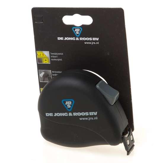 Afbeelding van Rolbandmaat 8m x 25mm, voorzien van rubberen haak met magneten, CE II nauwkeurigheid, lint voorzien van nylon deklaag voor perfecte bescherming