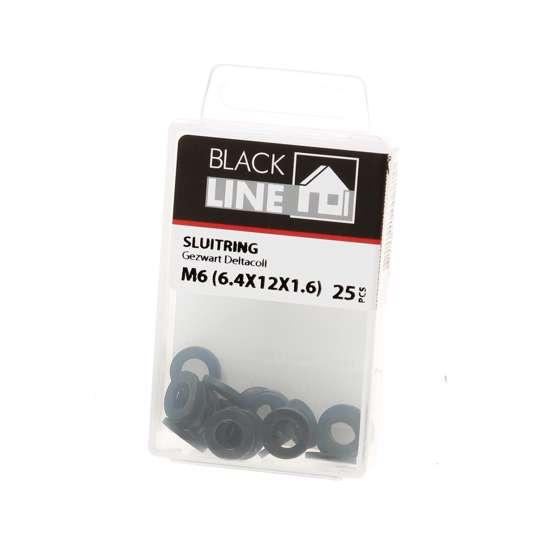 Afbeelding van Sluitring zwart din125-A M6 Verpakt per 25 stuks