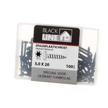 Afbeeldingen van Hoenderdaal Spaanplaatschroef zwart cilinderkop TX10 3.0X20