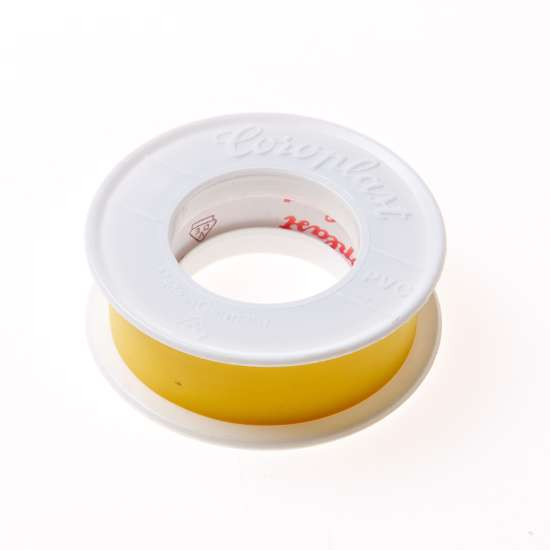 Afbeelding van Coroplast 302 tape geel 25mm x 25 meter