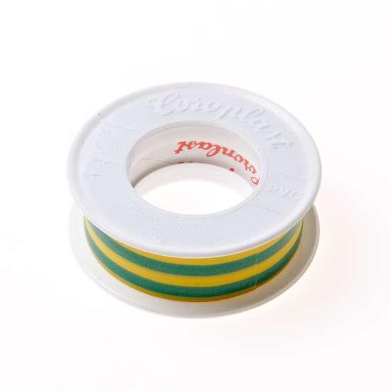 Afbeelding van Coroplast 302 tape groen/geel 15mm x 4.5 meter