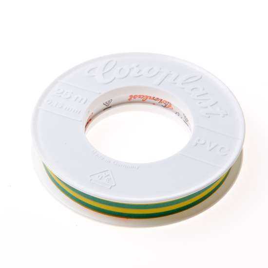 Afbeelding van Coroplast 302 tape groen/geel 15mm x25 meter