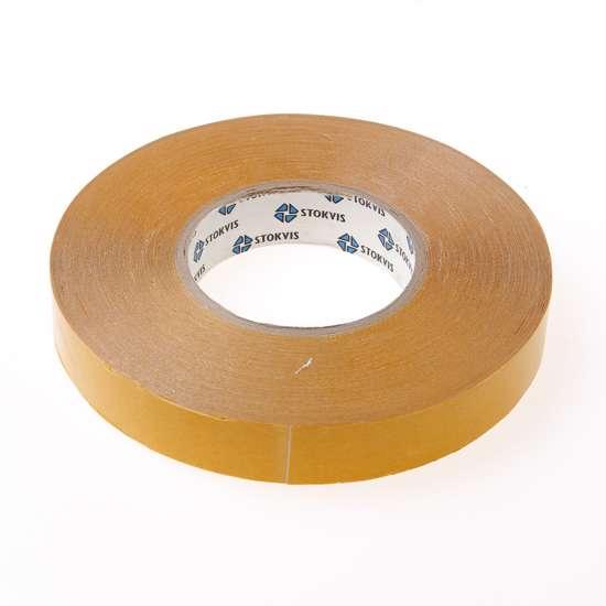 Afbeelding van Dubbelzijdige PVC tape 25mm x 50 meter