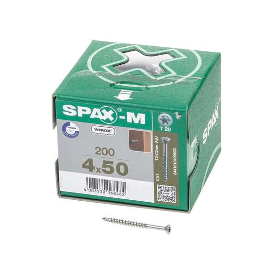 Afbeelding van Spax Spaanplaatschroef bolkop verzinkt T-Star T20 4.5x50mm (per 200 stuks)