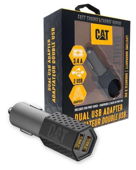 Afbeelding van CAT Oplader voor in de auto met 2 USB uitgangen