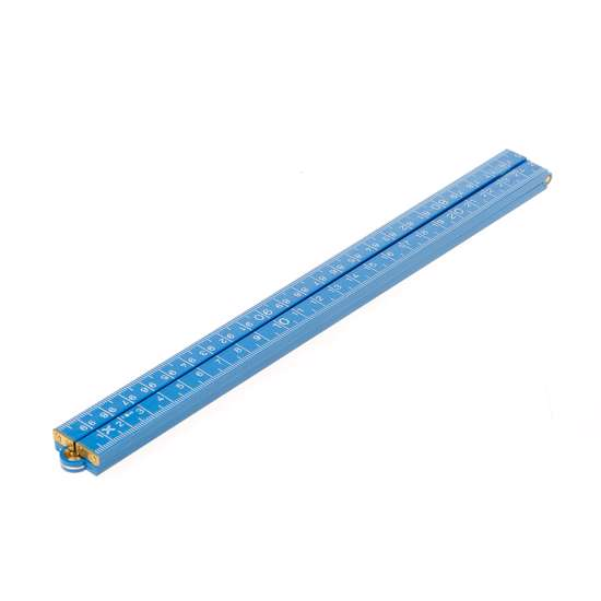 Afbeelding van Duimstok met kop plastic blauw 1meter