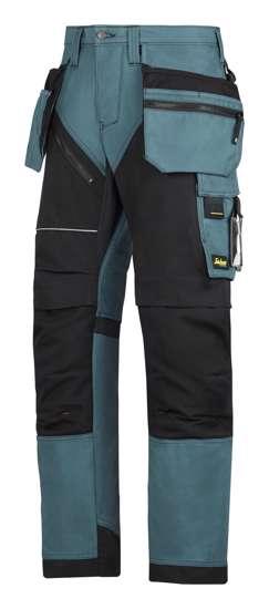Afbeelding van Snickers RuffWork broek met holsterzak petrol zwart maat M taille 50 W34