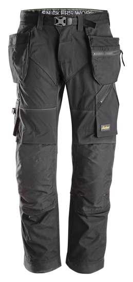 Afbeelding van Snickers FlexiWork broek met holsterzak zwart maat XL taille 54 W38