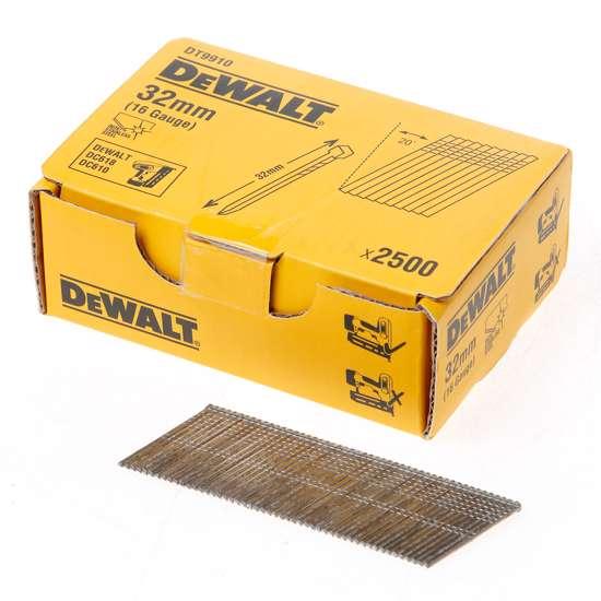 Afbeelding van DeWalt Inox spijkers zonder kop 32mm 16 Gauge 20° voor DC618 doos met 2500 spijkers