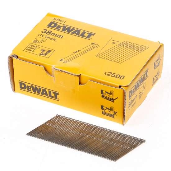 Afbeelding van DeWalt Inox spijkers zonder kop 38mm 16 Gauge 20° voor DC618 doos met 2500 spijkers