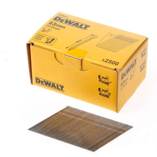 Afbeelding van DeWalt Inox spijkers zonder kop 63mm 16 Gauge 20° voor DC618 doos met 2500 spijkers