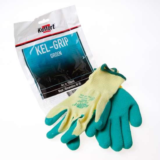 Afbeelding van Werkhandschoen latex groen maat M(8)
