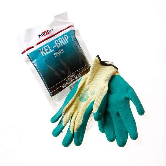 Afbeelding van Werkhandschoen latex groen maat XXL(11)