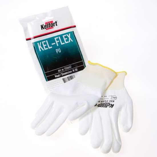 Afbeelding van Werkhandschoen flex pu wit maat M(8)