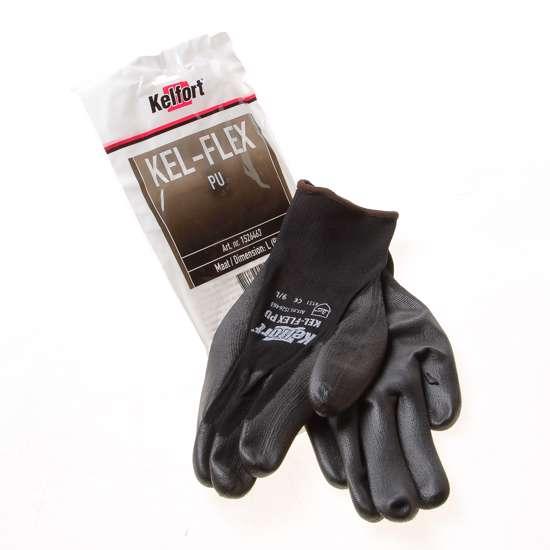 Afbeelding van Werkhandschoen flex pu zwart L(9)