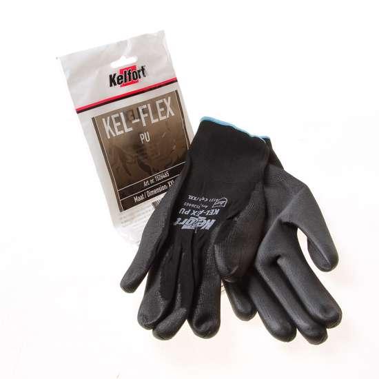 Afbeelding van Werkhandschoen flex pu zwart XXL(11)
