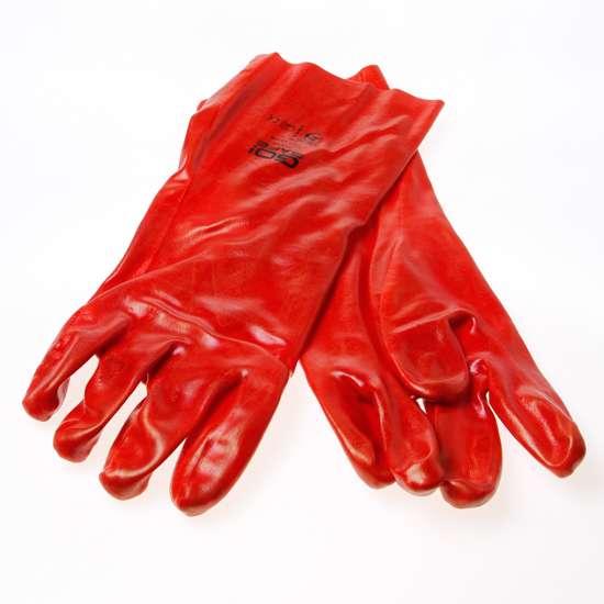 Afbeelding van Handschoen ocean PVC rood 35cm maat XL(10)