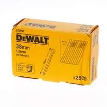 Afbeeldingen van DeWalt Spijkers zonder kop gegalvaniseerd 38mm 16 Gauge 16mm 20° voor DC618 doos van 2500 spijkers