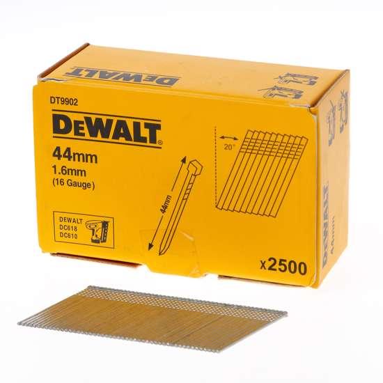 Afbeelding van DeWalt Spijkers zonder kop gegalvaniseerd 44mm 16 Gauge 1,6mm 20° voor DC618 doos van 2500 spijkers