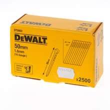 Afbeeldingen van DeWalt Spijkers zonder kop gegalvaniseerd 50mm 16 Gauge 1,6mm 20° voor DC618 doos van 2500 spijkers