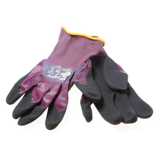 Afbeelding van Atg Handschoen Maxidry  paars/zwart maat 10