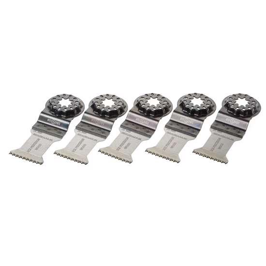 Afbeelding van Invalzaagblad precision met starlock aansluiting, 35x50mm, met japanse vertanding HCS, SL303, voor zachte houtsoorten, per 5 stuks verpakt