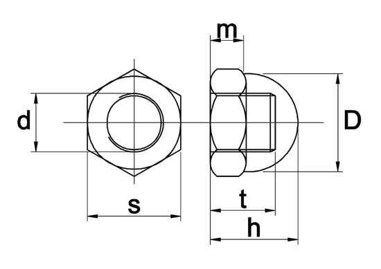 Afbeelding van Dopmoer messing/nikkel m4
