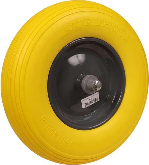 Afbeelding van Kruiwagenwiel anti-lek geel stalen velg