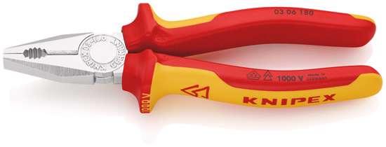 Afbeelding van Knipex comb.tang 180mm 0306vde