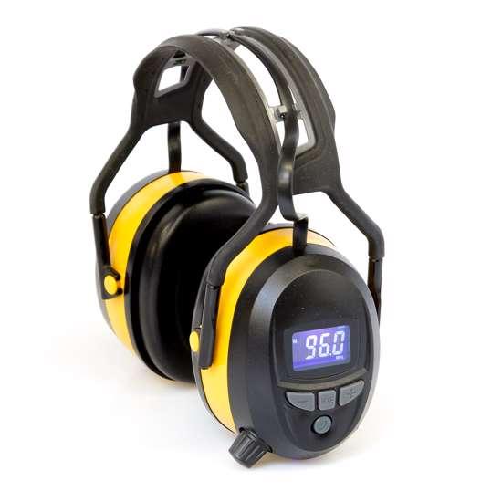 Afbeelding van Actie: Gehoorbeschermer met digitale radio, Bluetooth en ingebouwde MP3. In de kleur geel.